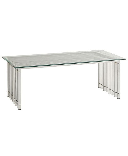 iNSPIRE Q Zorica Cocktail Table with Glass Top