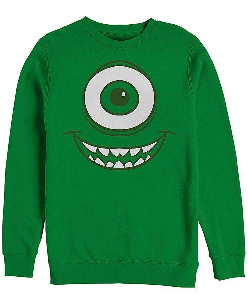 Disney Pixar Men's Monsters Inc. Mike Wazowski Eye Costume, Crewneck Fleece