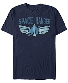 Men's Toy Story Space Ranger Star Command Logo, Short Sleeve T-Shirt
