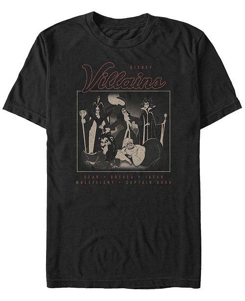 Disney Men's Villains Group Portrait, Short Sleeve T-Shirt