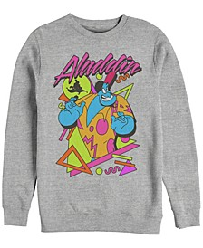 Men's Aladdin Genie in a Shirt Retro Abstract, Crewneck Fleece