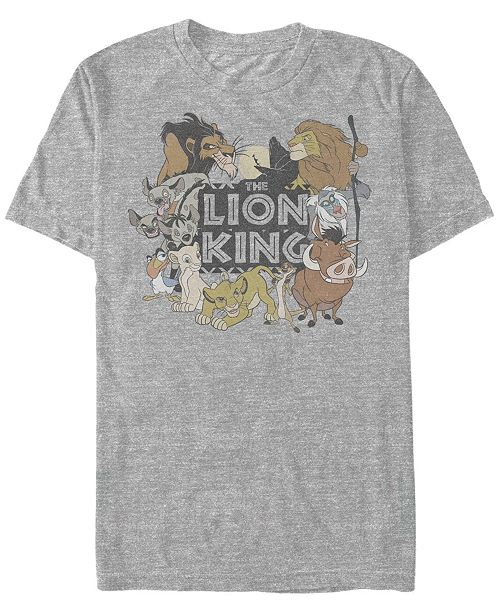Disney Men's Lion King Main Cast Movie Logo, Short Sleeve T-Shirt