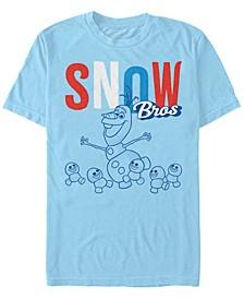 Men's Frozen Olaf Snow Bros, Short Sleeve T-Shirt