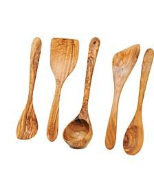 Olive Wood Kitchen Utensils Set of 5-Piece