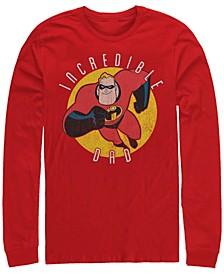 Pixar Men's Incredibles Super Dad, Long Sleeve T-Shirt