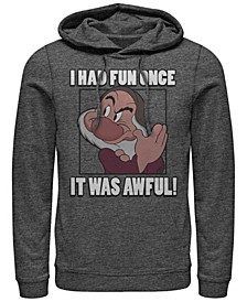 Men's Snow White and the Seven Dwarfs Grumpy Had Fun Once, Pullover Hoodie