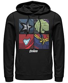 Men's Avengers Endgame Box Up Hero Logos, Pullover Hoodie