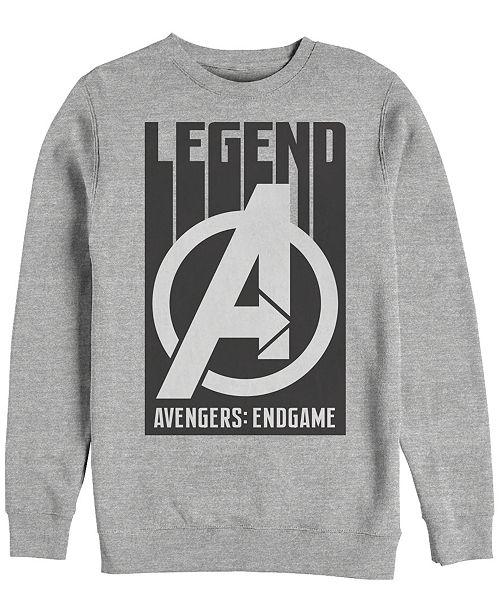 Marvel Men's Avengers Endgame Legend Logo, Crewneck Fleece
