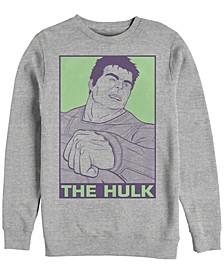 Men's Avengers Endgame Hulk Pop Art Poster, Crewneck Fleece