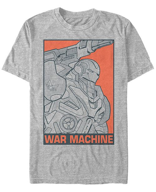 Marvel Men's Avengers Endgame War Machine Pop Art, Short Sleeve T-shirt