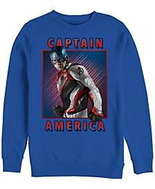 Men's Avengers Endgame Captain America Portrait, Crewneck Fleece