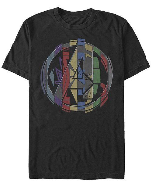 Marvel Men's Avengers Endgame Badge Logo Mash Up, Short Sleeve T-shirt