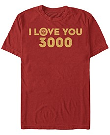 Men's Avengers Endgame Simple I Love You 3000 Iron Man, Short Sleeve T-shirt
