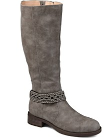 Women's Extra Wide Calf Paisley Boot