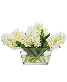 Winward International Hyacinth in Glass Vase