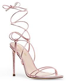 Winnie Harlow x Badgirl Tie-Up Stiletto Sandals