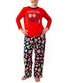 Matching Women's Baking Team Pajama Set, Online Only