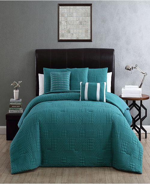 Geneva Home Fashion Yardley 10-Piece Embossed King Bedding Set