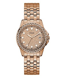 Women's Rose Gold-Tone Stainless Steel Glitz Watch, 36mm