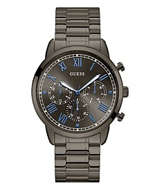 Men's Gunmetal-Tone Stainless Steel Multi-Function Watch. 44mm
