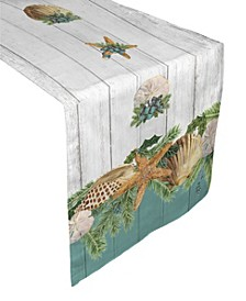 "Christmas By The Sea Table Runner - 90"" x 13"""