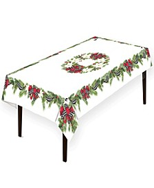 "Christmas Trimmings Tablecloth - 70"" x 84"""