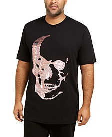 I.N.C. Men's Big & Tall Renew Sequin Skull T-Shirt, Created For Macy's
