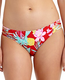 Juniors' Tropic Printed Strappy-Side Hipster Bikini Bottoms, Created For Macy's