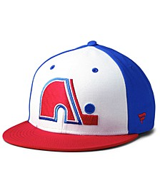 Quebec Nordiques Tri-Color Throwback Snapback Cap