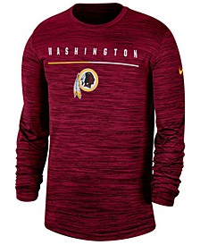 Men's Washington Redskins Sideline Legend Velocity Travel Long Sleeve T-Shirt