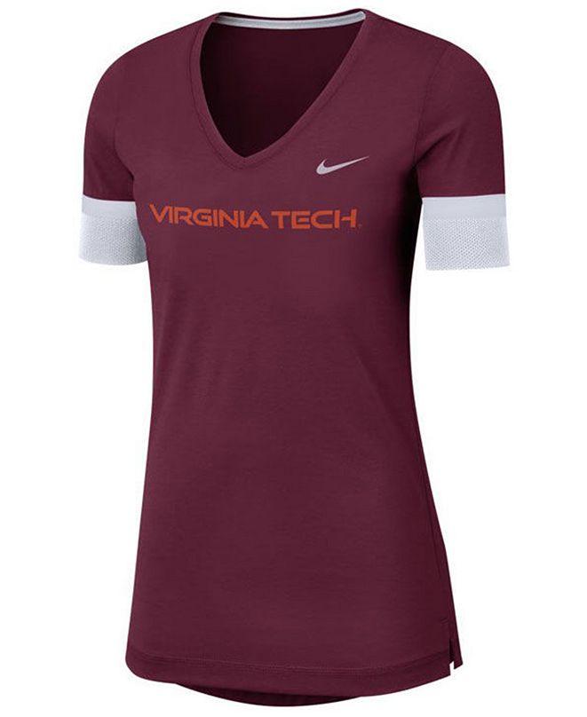 Nike Women's Virginia Tech Hokies Fan V-Neck T-Shirt