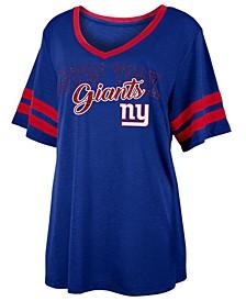 Women's New York Giants Sleeve Stripe Slub T-Shirt
