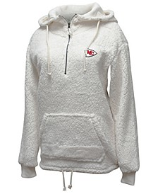 Women's Kansas City Chiefs Sherpa Quarter-Zip Pullover