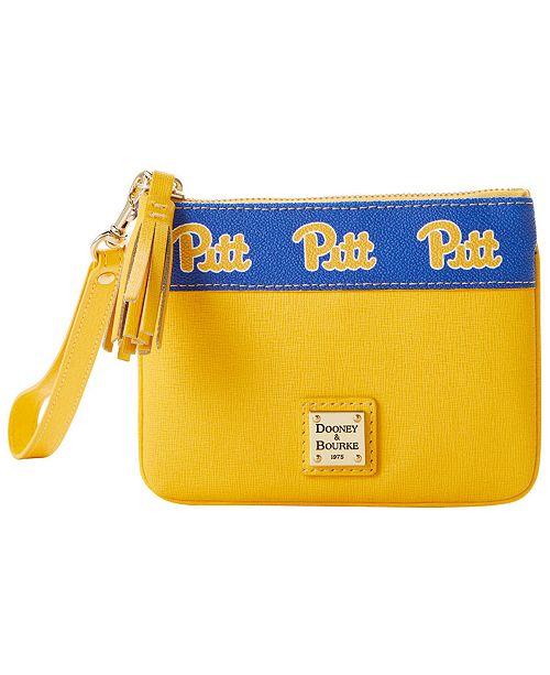 Dooney & Bourke Pittsburgh Panthers Saffiano Stadium Zip Wristlet