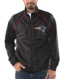Men's New England Patriots Black Tracer Track Jacket