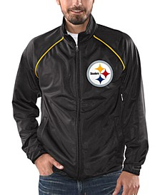 Men's Pittsburgh Steelers Black Tracer Track Jacket