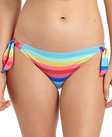 Shiny Striped Side-Tie Hipster Bikini Bottoms, Created for Macy's