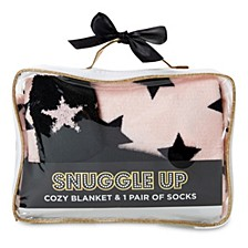 Women's Snuggle Up Blanket & Sock Gift Set, Online Only