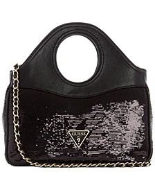 Delon Sequin Shoulder Bag
