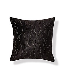 Onyx 20 Square Velvet Stitch Decorative Pillow