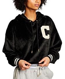 Women's Faux-Fur Cropped Hoodie