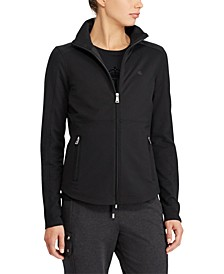 Stretch Cotton Full-Zip Jacket