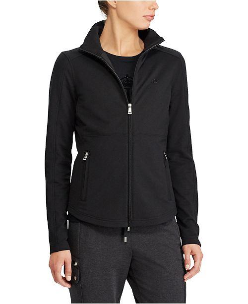 Lauren Ralph Lauren Stretch Cotton Full-Zip Jacket