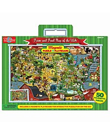 Farm and Food Magnetic Playboard and Puzzle