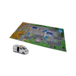 Dickie Toys Majorette - Creatix Construction Playmat Playset with 1 Die-Cast Car