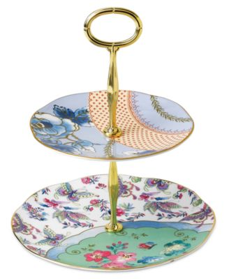 Dinnerware, Butterfly Bloom 2-Tier Cake Stand
