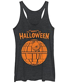Star Wars Women's Death Star Happy Halloween Tri-Blend Tank Top