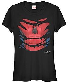 Marvel Women's Spider-Man Homecoming Suit Halloween Costume Short Sleeve Tee Shirt