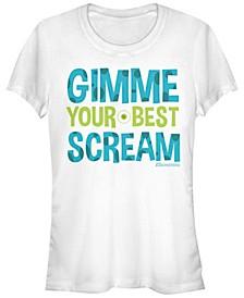Disney Pixar Women's Monsters University Your Best Scream Short Sleeve Tee Shirt