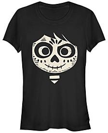 Disney Pixar Women's Coco Miguel Face Halloween Short Sleeve Tee Shirt
